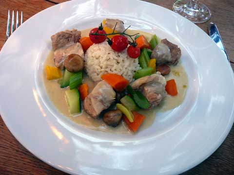 Blanquette de veau, riz pilaf