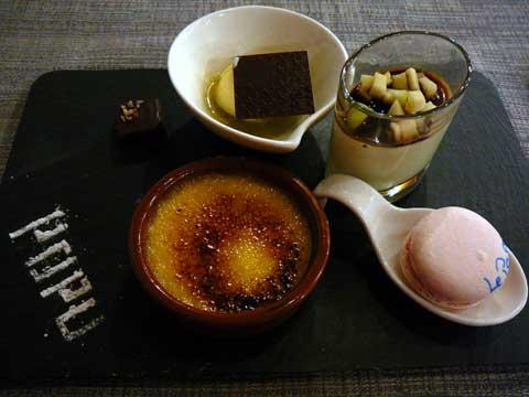 Trilogie de dessert maison