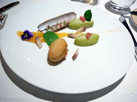 Le couteau : agrumes, avocat, tempura