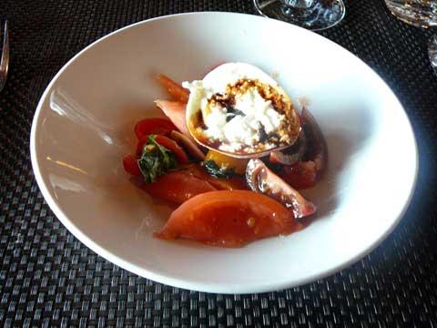 Restaurant Seven Easy, Ascona Insalata di pomodori con burratina