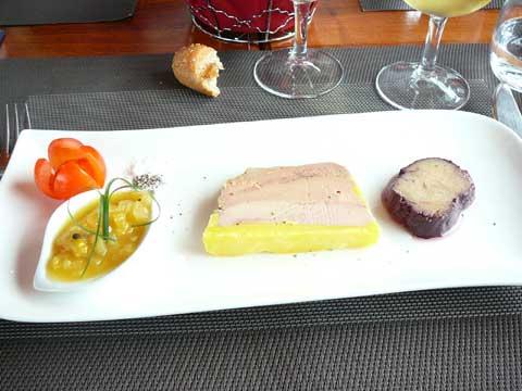 Duo de foie gras maison, chutney exotique