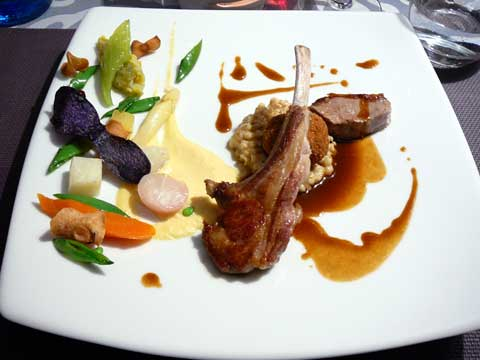 Déclinaison d'agneau français, la côte, le filet, le cromesquis