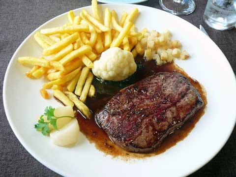 Steak chasseur