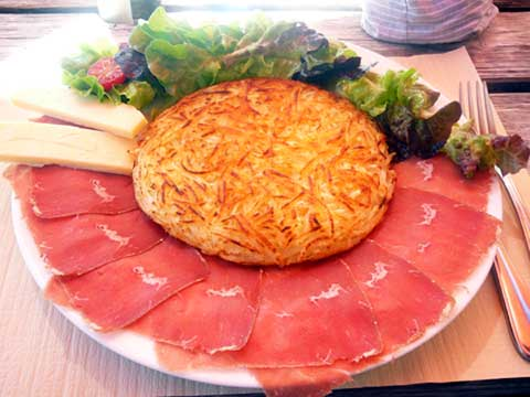 Roesti Montagnard (viande séchée, gruyère)