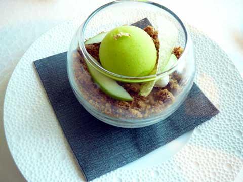 Douceur de pommes et marmelade, crémeux au yuzu