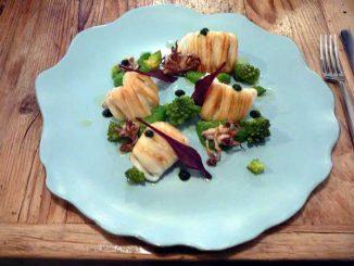 Calamars, brocoli, menthe