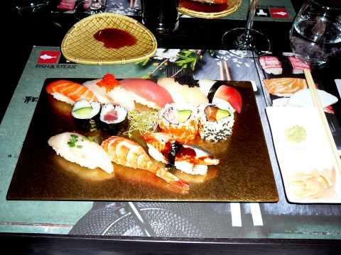 Portion de sushis