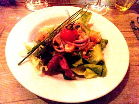 Salade de poulpe et de crevettes