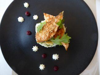Salade saumon grillé et céleri