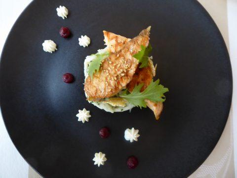 Restaurant Côté Sud, Uchaux : Salade saumon grillé et céleri