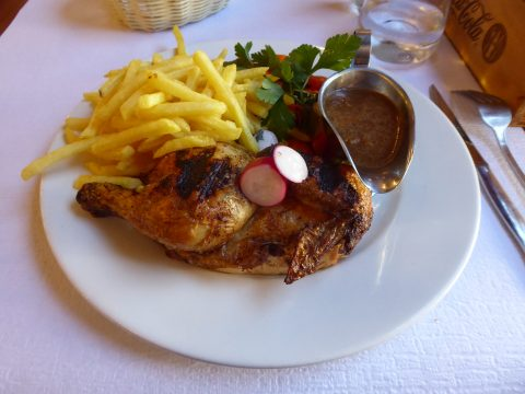 Restaurant La Bagatelle, Genève, Poulet à l'estragon