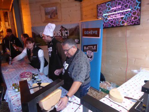 Chasselas et fromage à raclette de Genève