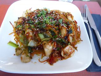 Wok de poulet, façon thaï