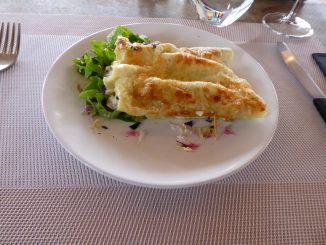 Cannelloni chèvre, poireaux et jambon
