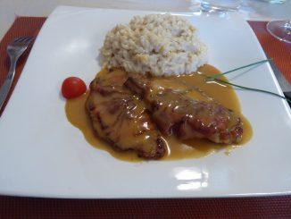 Saltimbocca à la romaine, risotto au parmesan