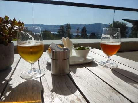 Pause bière sur la terrasse de l'Hôtel Dolder Grand