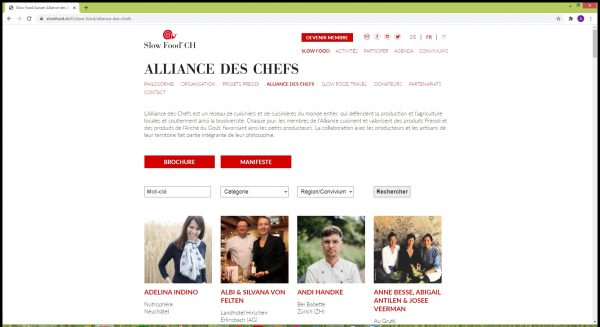 Alliance des Chefs Slow Food